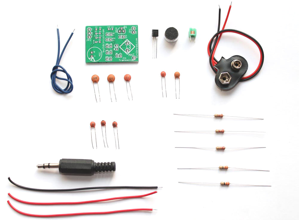 1 transistor FM Transmitter DIY learning kit