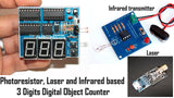 3 Digit Digital Object Counter ASSEMBLED kit with Infrared transmitter and laser module