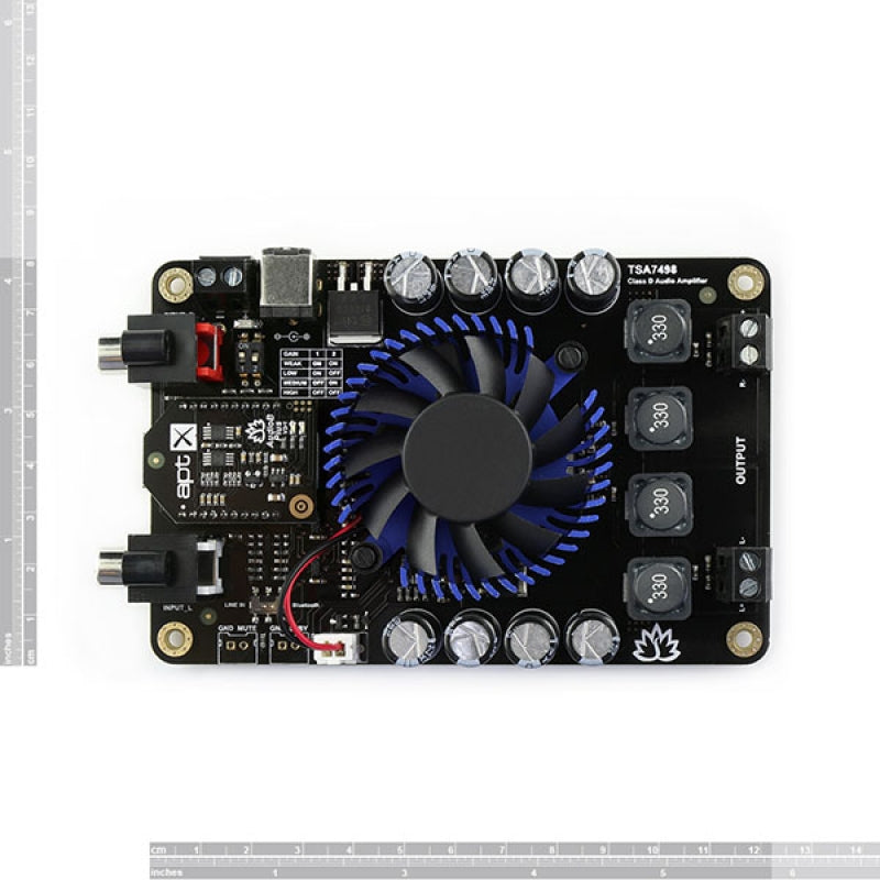 2 x 100W Class D Bluetooth Audio Amplifier Board - TSA7498B (Apt-X)