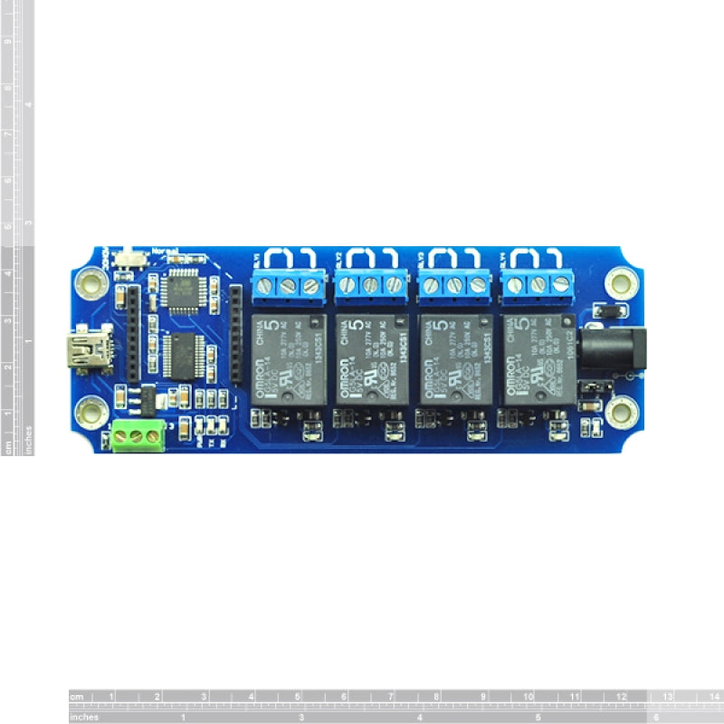 TOSR04-D - 4 Channel USB/Wireless Timer Relay Module Xbee Control Kit