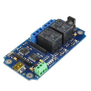 TOSR120B - 2 Channel USB/Wireless 5V Relay - (Password/Momentary/Latching/Bypass button)