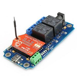 TOSR122 - 2 Channel Smartphone Wi-Fi Relay - (Password/Momentary/Latching)