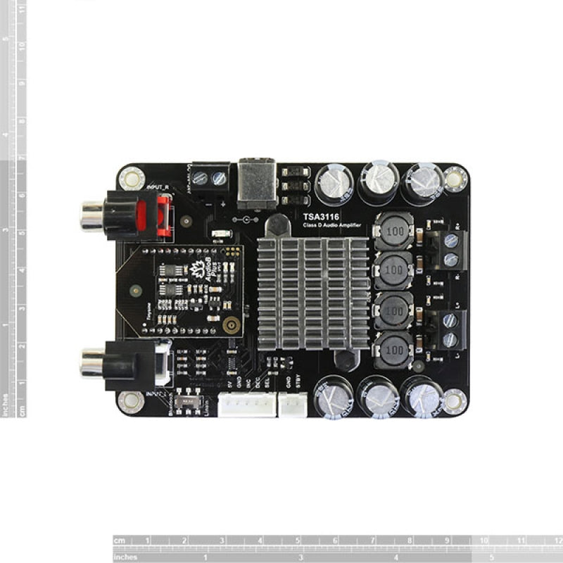 2 x 50W Class D Bluetooth Audio Amplifier Board - TSA3116