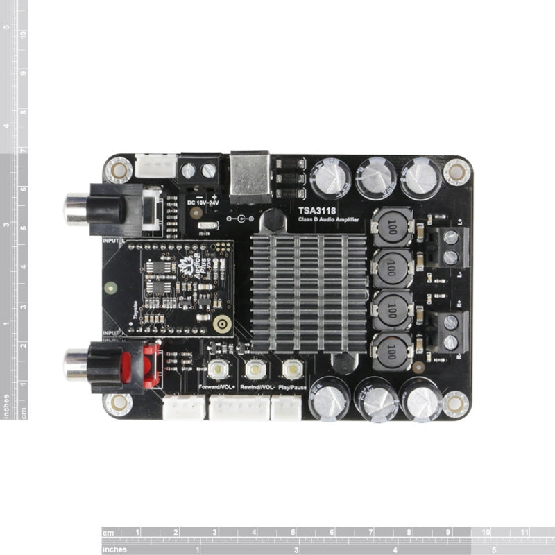 2 x 50W Class D Bluetooth Audio Amplifier Board - TSA3118