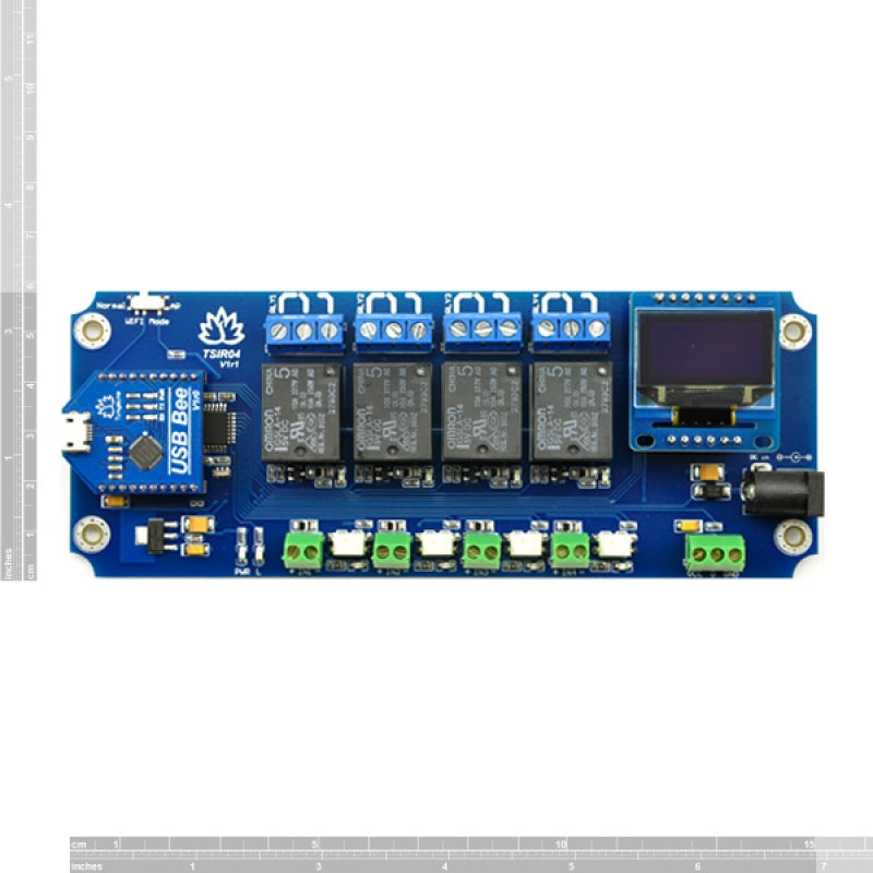 TSIR04 - 4 Channel Outputs- 4 optically Isolated Inputs USB Relay Module