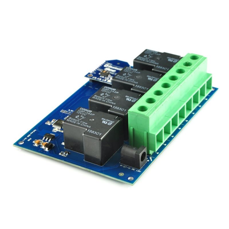 TSRB430 V2 - 4 Channel Bluetooth Smartphone Controlled 30A Relay Board with Enclosure