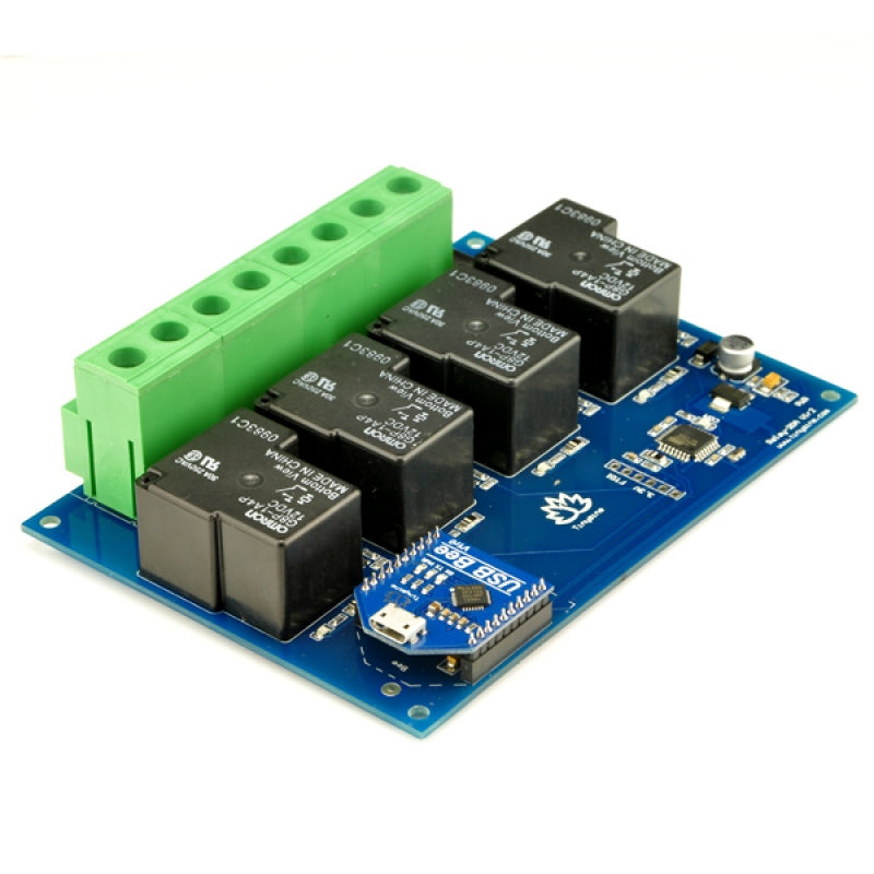 TSRU430- 4 Channel 30A USB Relay Board