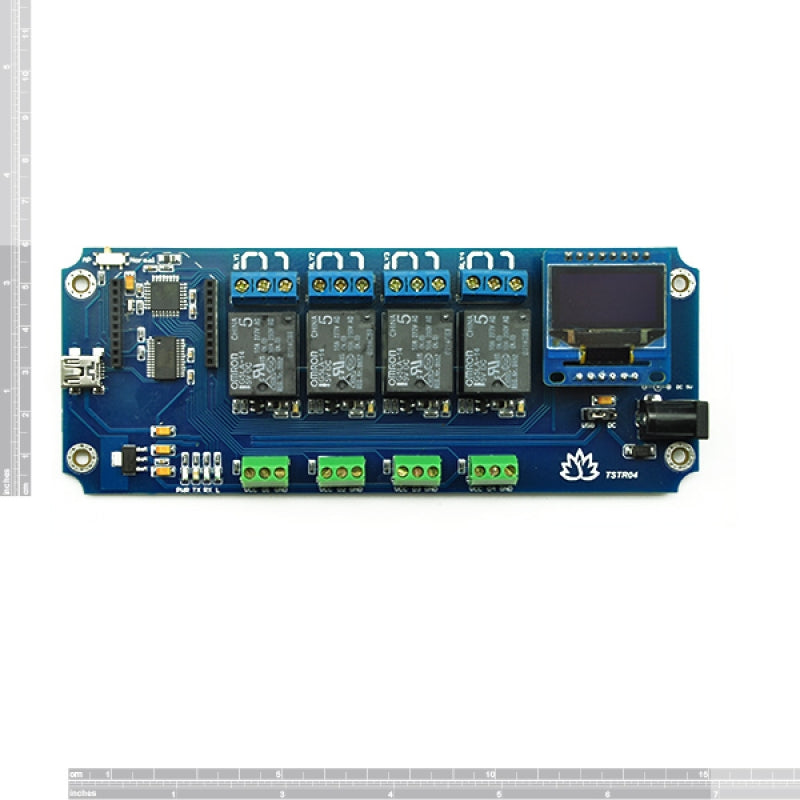 TSTR04 - 4 Channel Outputs 4 Temperature Sensors USB Relay (Thermostats)