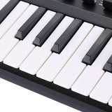 Portable Mini 25-Key USB Keyboard and Drum Pad MIDI Controller