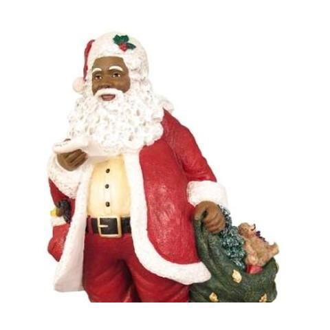 Black Santa Claus Figurines and Decor