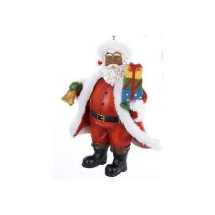 Black Santa Claus Ornaments
