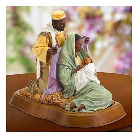 African American Nativity Figurines and Decor
