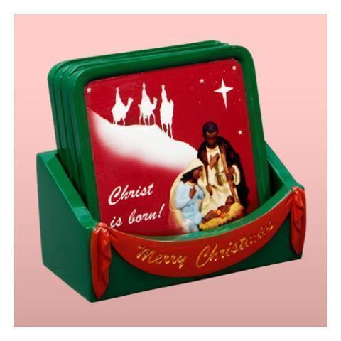 African American Nativity Coasters