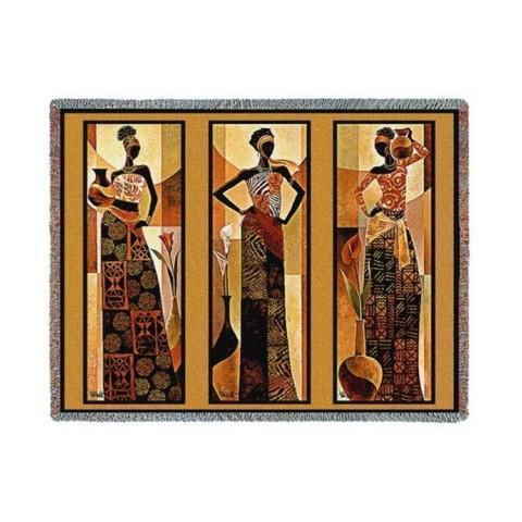 African American Tapestry Throws and Decor