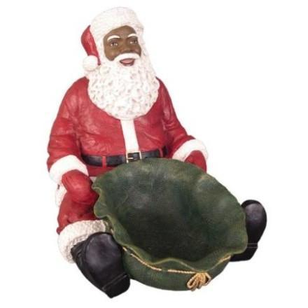 Black Santa Claus Figurines