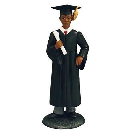 African American Graduation Figurines and Gifts