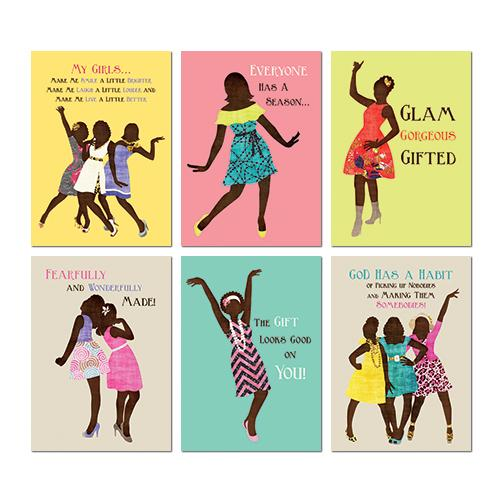 African American All Occasion Greeting Card Box Set (Sister Friends Collection)