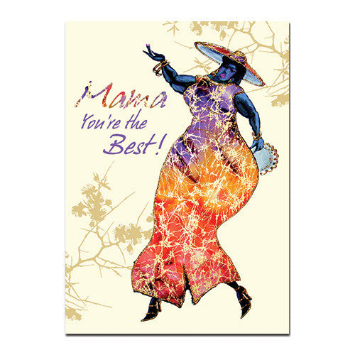 Mama You're the Best: African American Happy Birthday Card