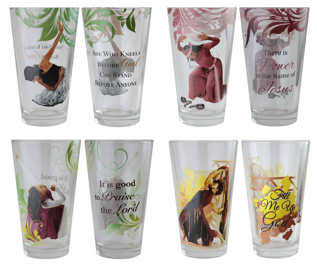 Praise Dancer Series: African American Drinking Glasses