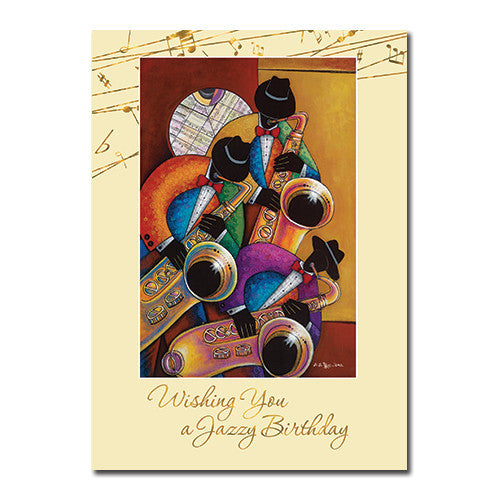 Jazzy: African American Happy Birthday Greeting Card