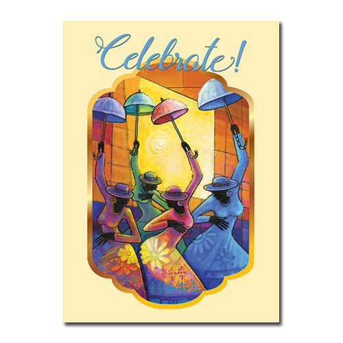 Celebrate: African American Happy Birthday Greeting Card