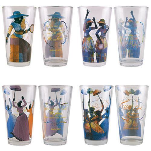 Praise Dancer Collection by D.D. Ike: African American Drinking Glasses