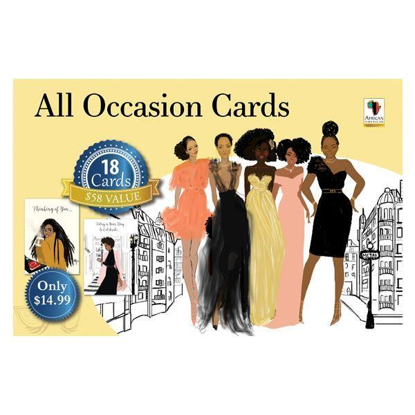 African American All Occasion Greeting Card Box Set (Sister Friends) by Nicholle Kobi