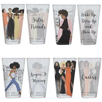 Sister Friends Collection by Nicholle Kobi: African American Drinking Glasses