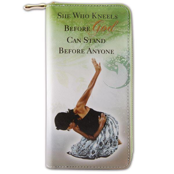 She Who Kneels: African American Womens Wallet/Clutch