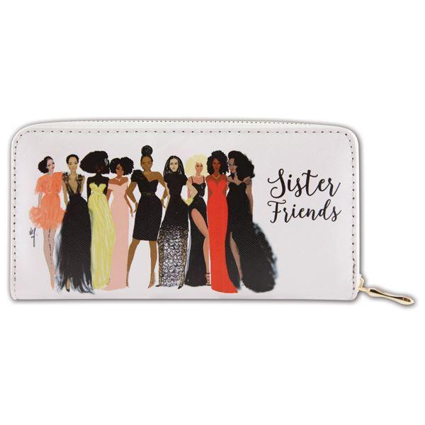Sister Friends: African American Women's Wallet/Clutch by Nicholle Kobi