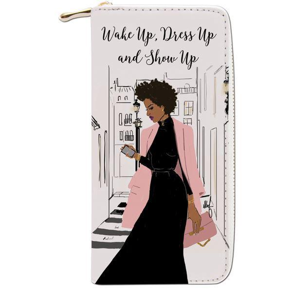 Dress Up and Show Up: African American Womens Wallet/Clutch by Nicholle Kobi