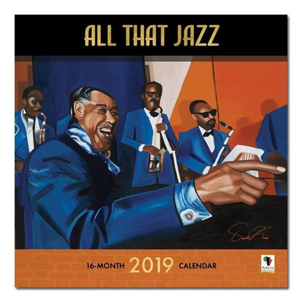 All That Jazz: The Art of Oronde Kairi Johnson (2019 African American Calendar) (Front)