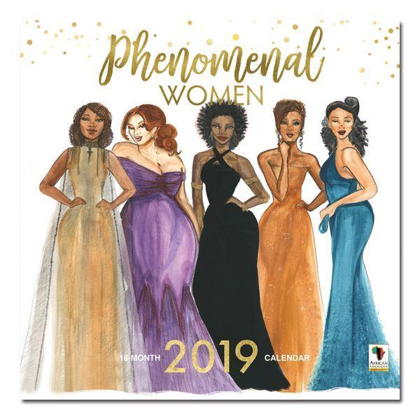 Phenomenal Women: The Art of Sarah Myles (2019 African American Calendar) (Front)