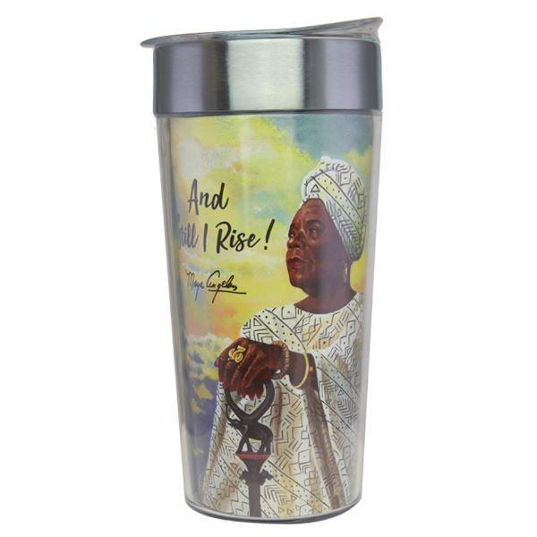 And Still I Rise (Maya Angelou): African American Stainless Steel Travel Cup