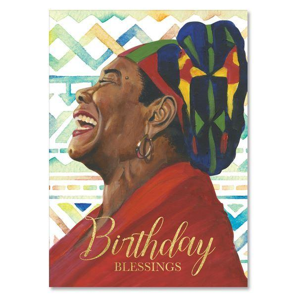 Birthday Blessings (Maya Angelou): African American Greeting Card