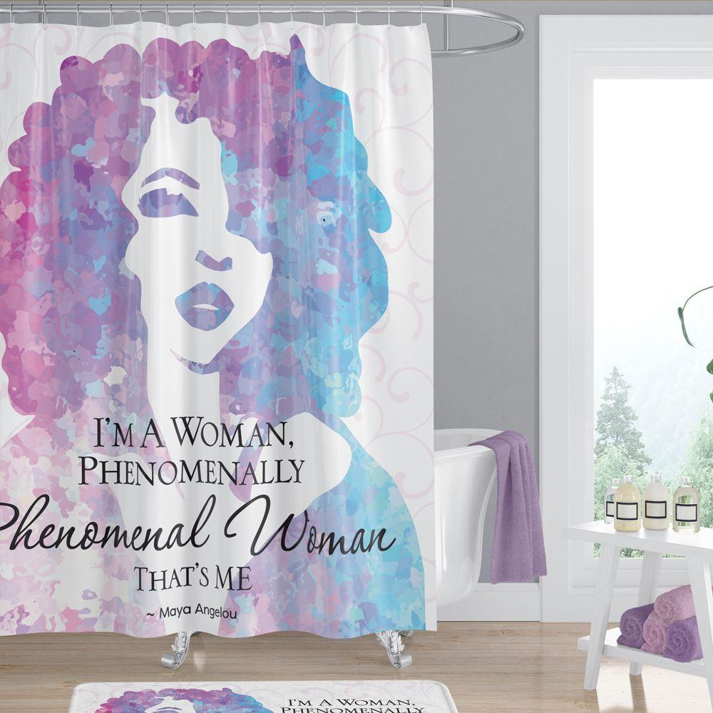 Phenomenal Woman: African American Shower Curtain by Maya Angelou