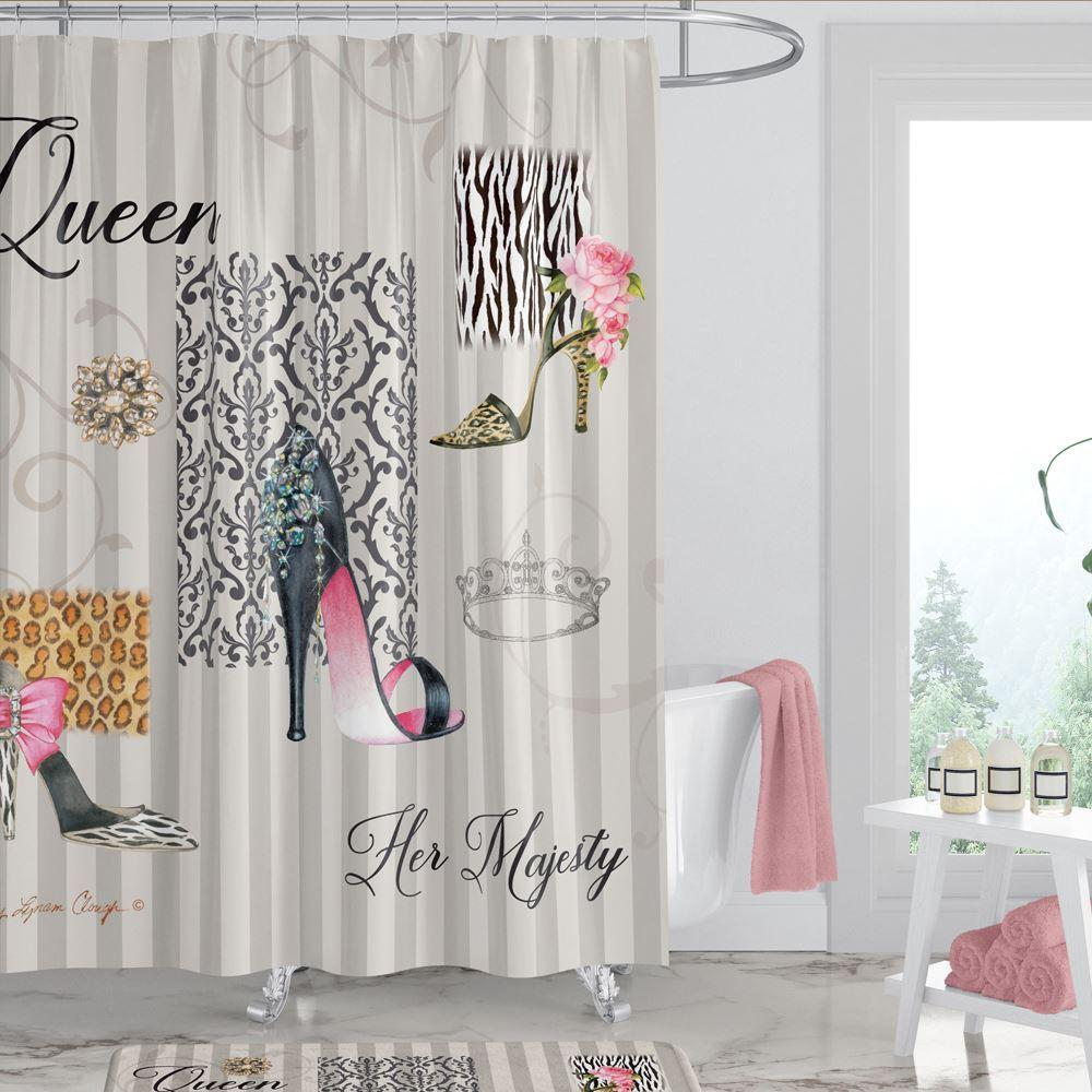 The Shoe Queen Shower Curtain by Sandy Clough