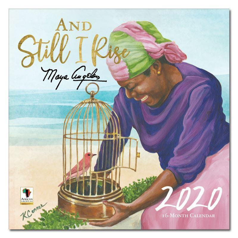 Maya Angelou (And Still I Rise) by Keith Conner: 2020 African American Calendar