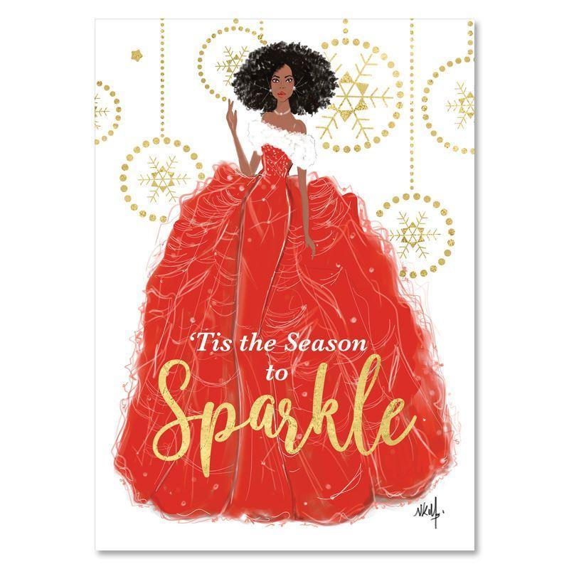 Season to Sparkle by Nicholle Kobi: African American Christmas Card Box Set