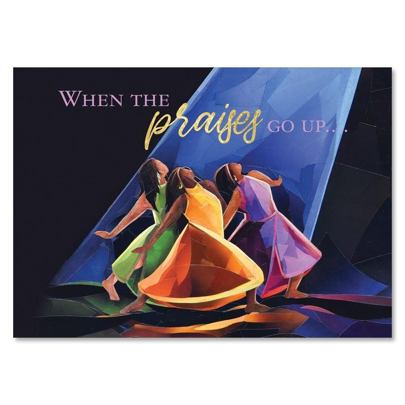 Praises Go Up by Carl M. Crawford: African American Christmas Cards (Box Set of 15)