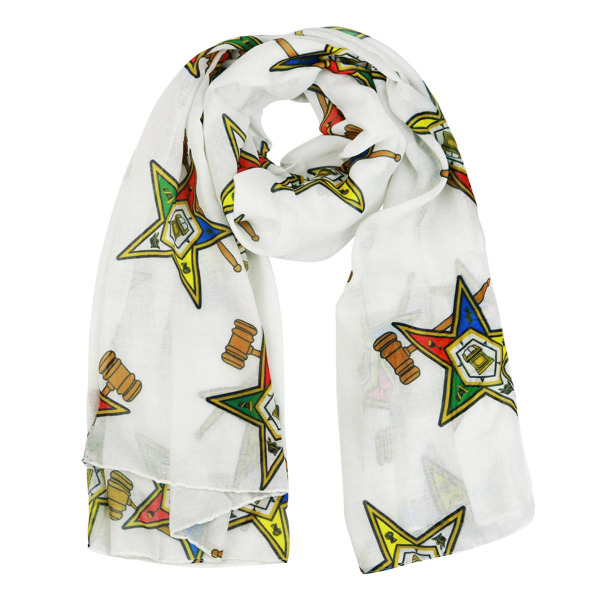 The Masonic Depot Womens Oversized Order of the Eastern Star OES Infinity Scarf
