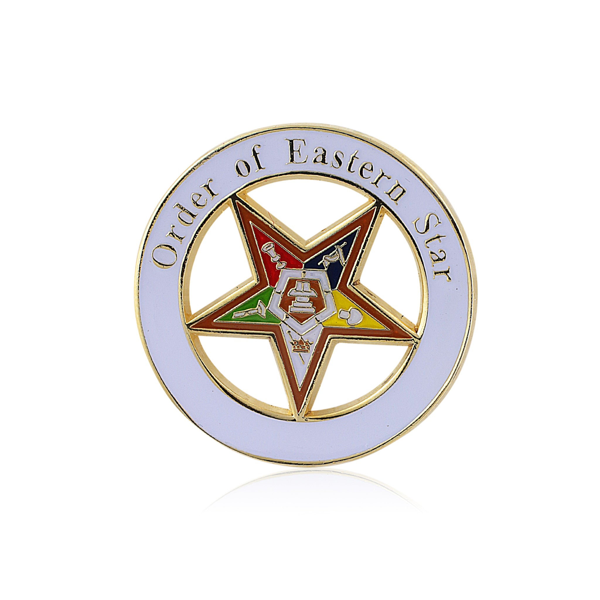 Order of the Eastern Star Masonic Lapel Pin
