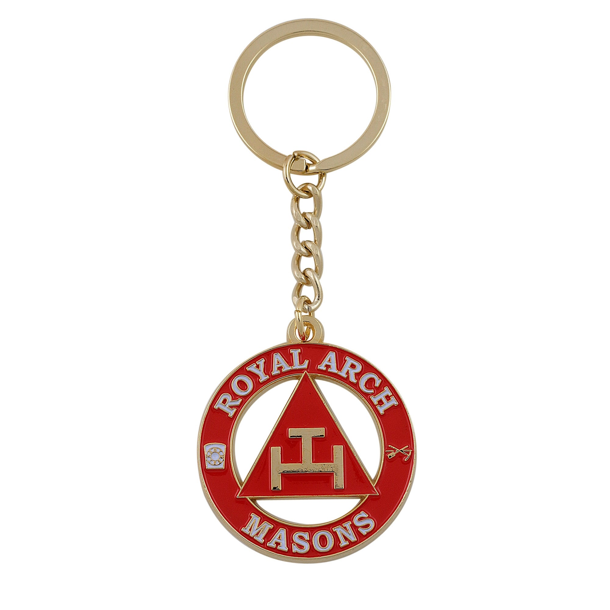 Royal Arch Masonic Key Chain (York Rite - Red House)