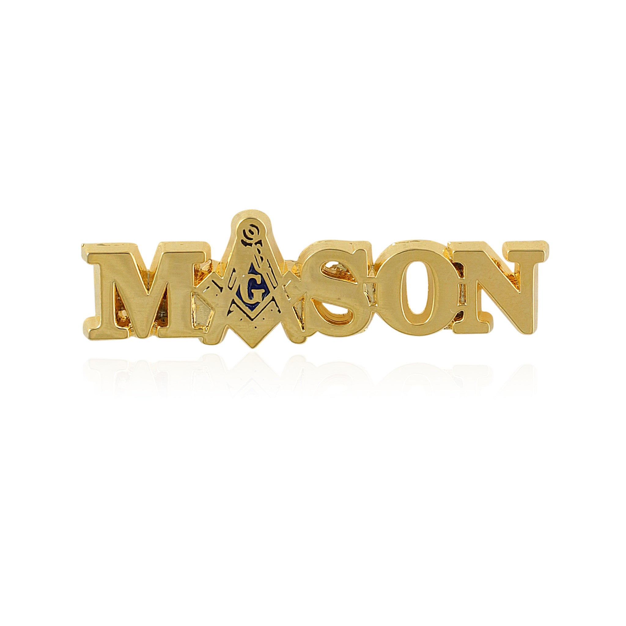 Mason: Gold Toned Masonic Lapel Pin