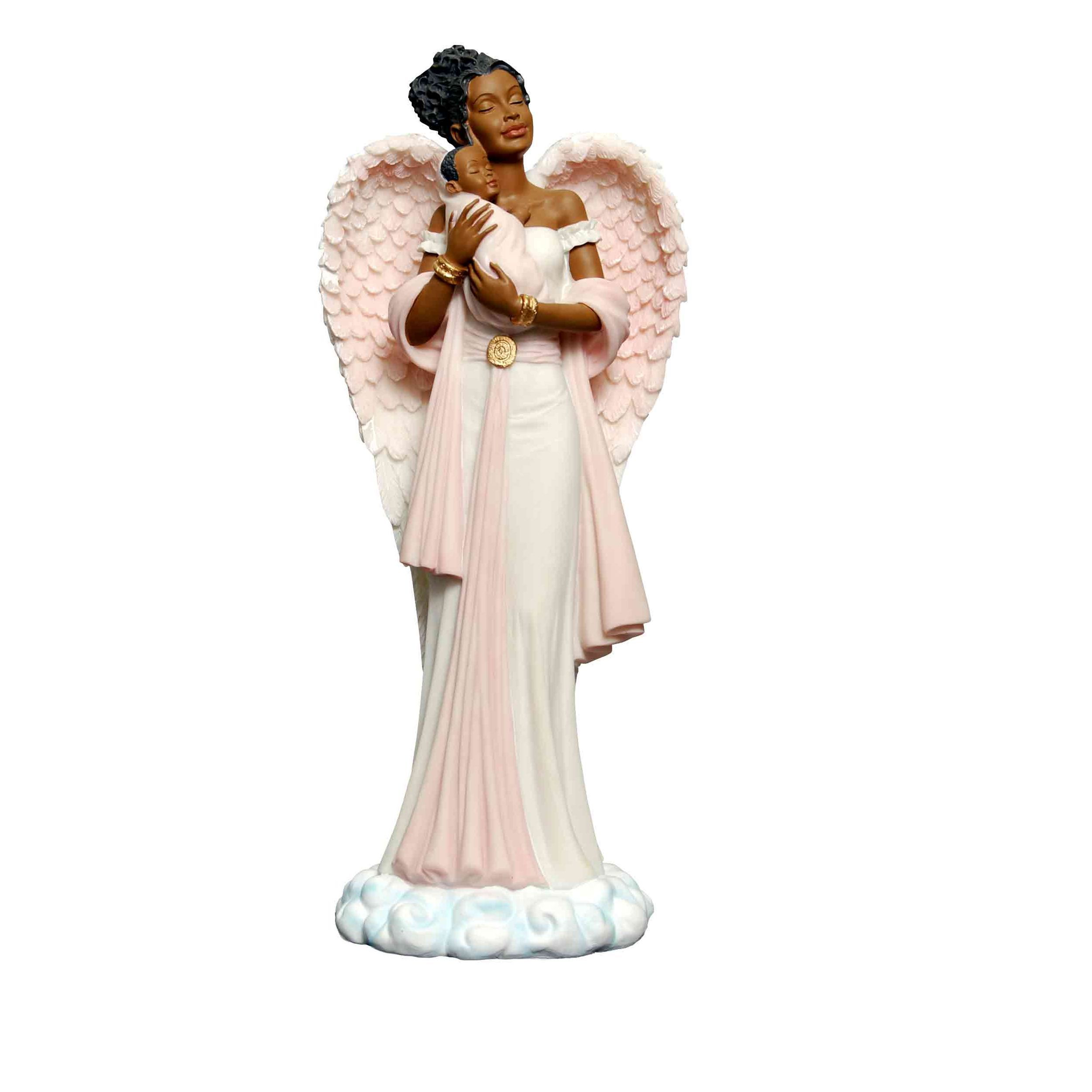 African American Graceful Angel in Pink by Positive Image Gifts