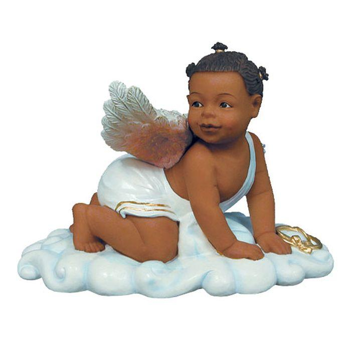 Sweet Cheeks: African American Baby Angel Figurine by Positive Image Gifts