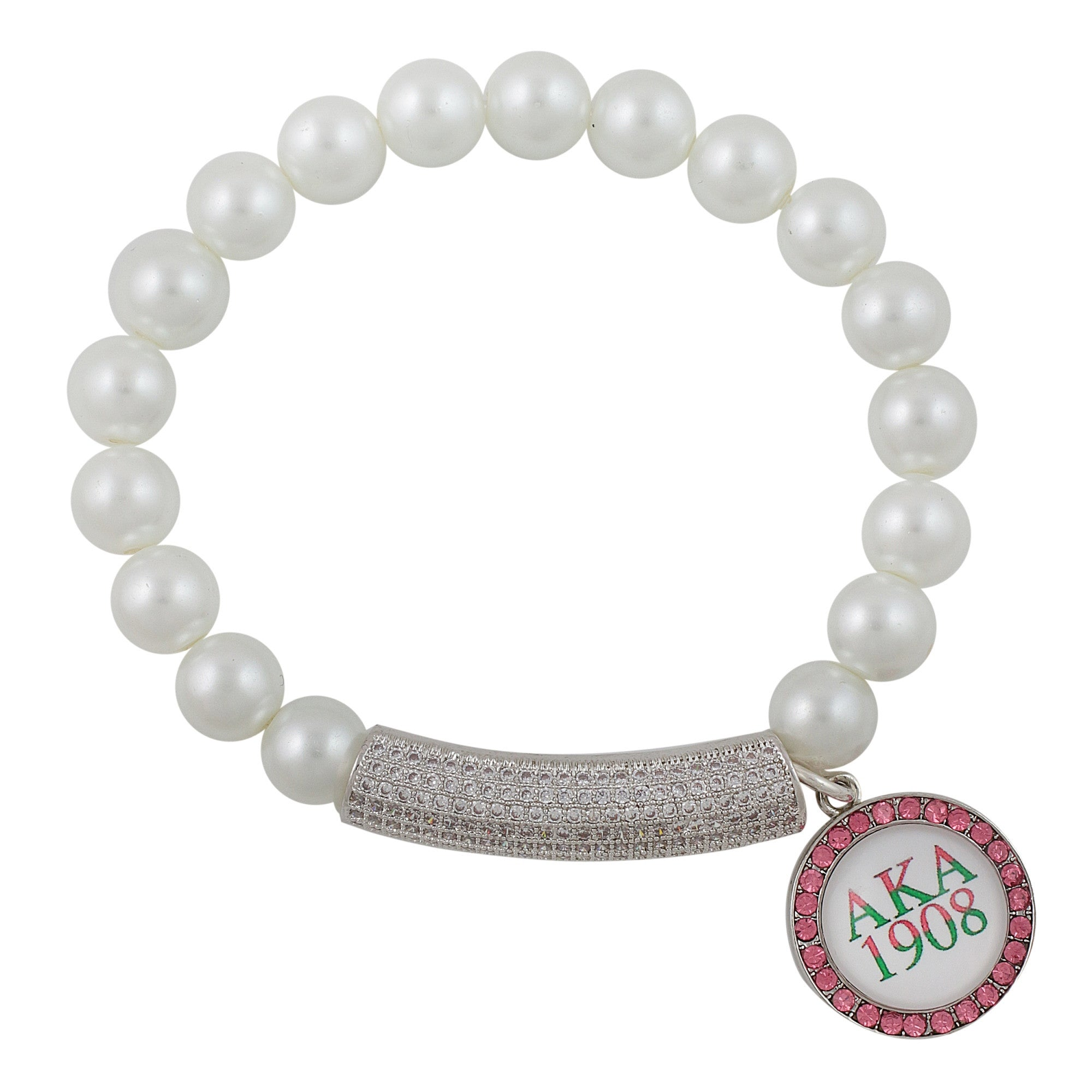 Alpha Kappa Alpha Mother of Pearl Charm Bracelet