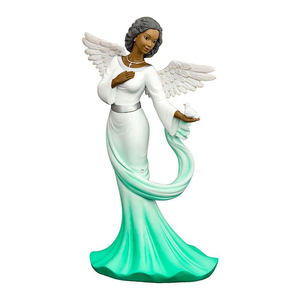 Sash Angel in Green: African American Figurine by Positive Image Gifts