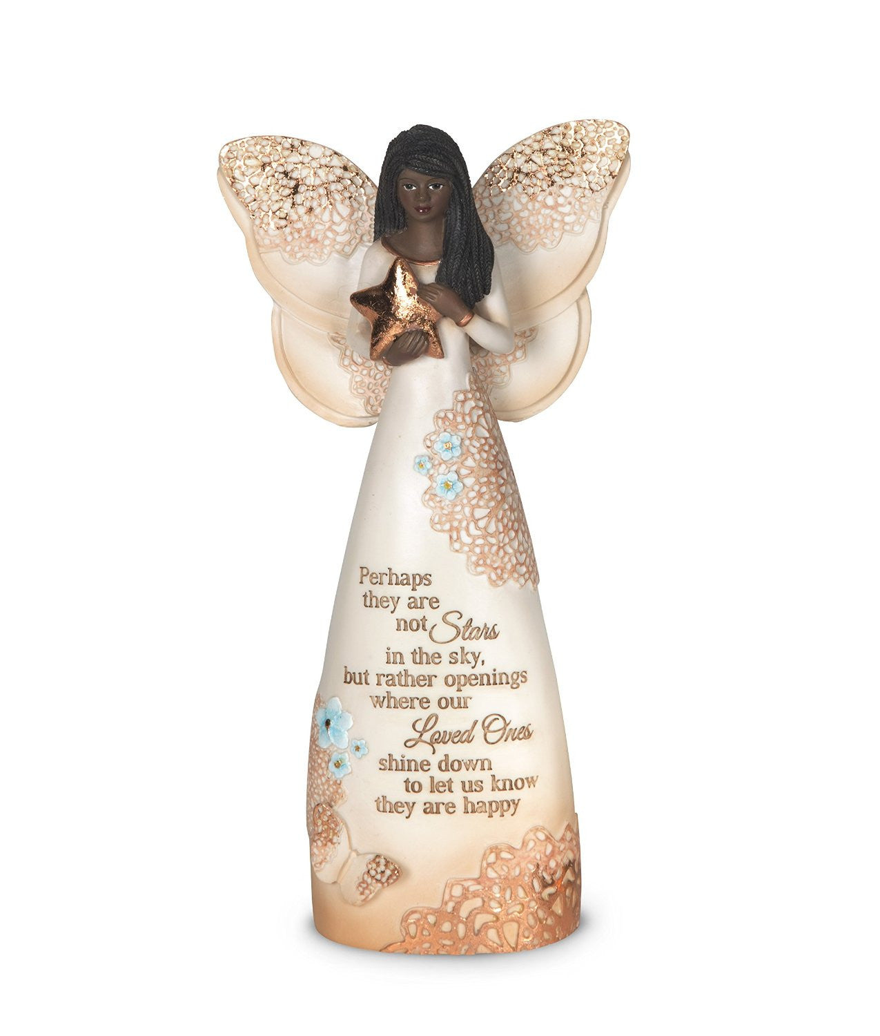 African American Stars in the Sky Angel Figurine: Light Your Way Memorial by Pavilion Gifts