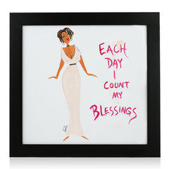 Each Day I County My Blessings by Cidne Wallace